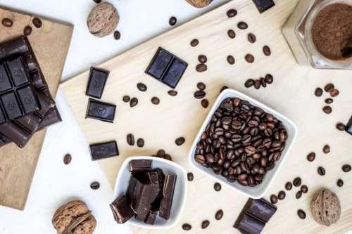 Chocolate Bar & Coffee Beans