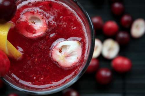 Cranberry Smoothie Cocktail
