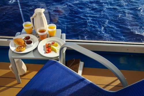 Breakfast on Travel Cruise Ship