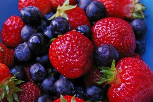 Strawberries & Blueberries Fruit