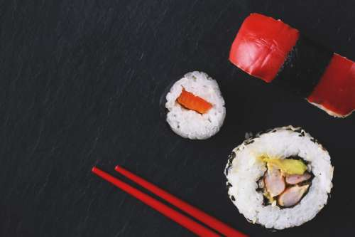 Sushi & Red Chopsticks