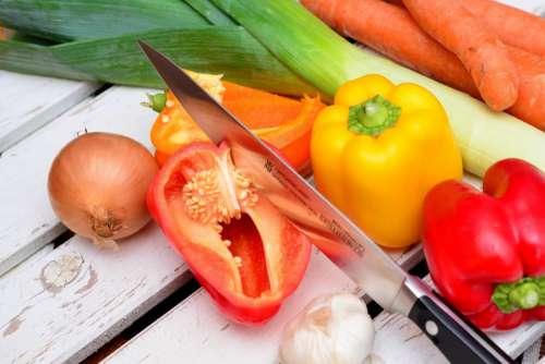 Vegetables & Knife