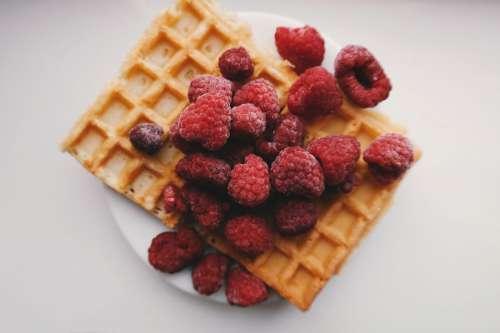 Waffles & Raspberries