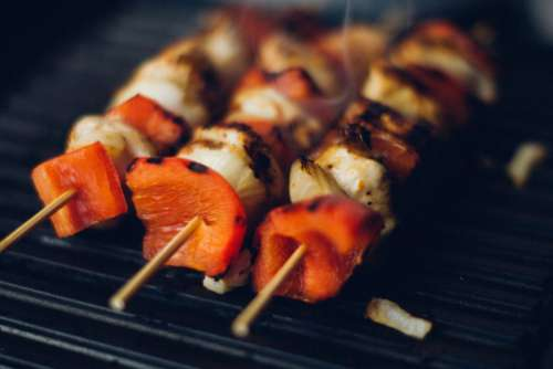 Kebabs on BBQ