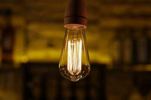 Light Bulb in Bar