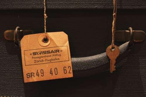 Luggage Tag on Travel Suitcase