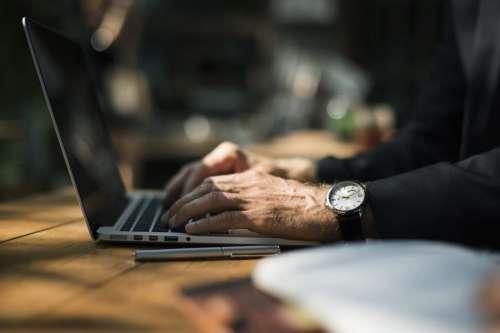 Man Working Online