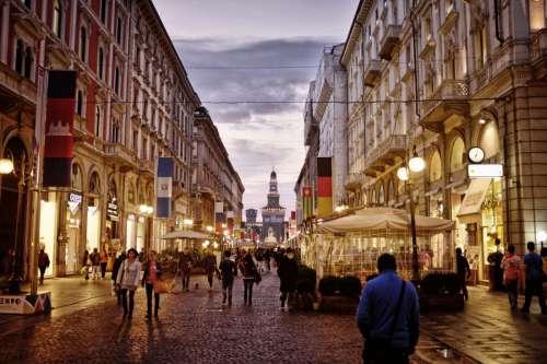 Street in Milan, Italy