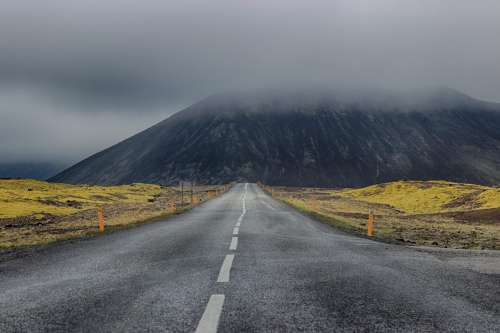 Mountain Road in Iceland