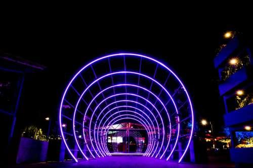 Night Tunnel Lights