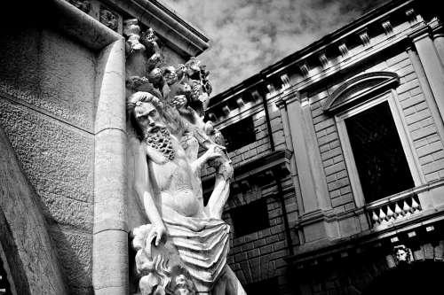 Dramatic Statue in Venice