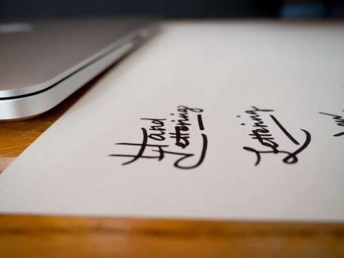 Lettering Logo Computer