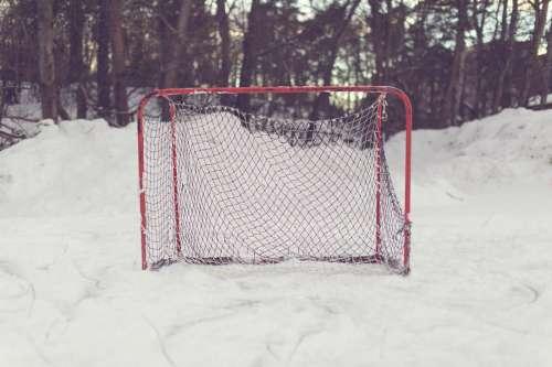 Hockey Goal in Snow