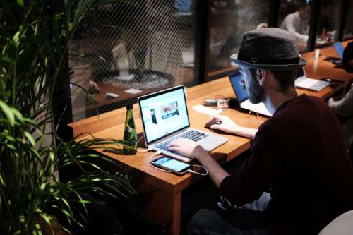 Computer Desk & Hat