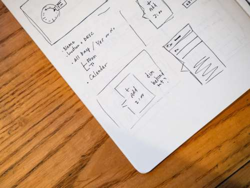 Notebook Wireframe Sketch