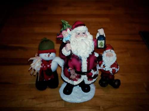 Santa & Snowman Character