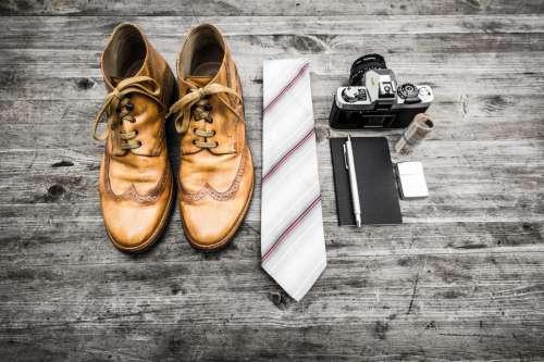 Shoes Tie Camera Money