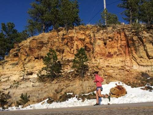 Man Running Mountains