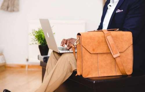 Stylish Man & Laptop