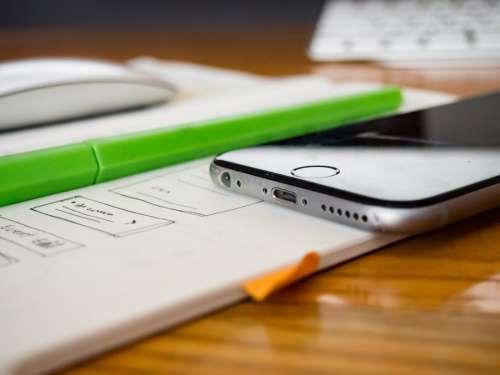 Wireframe Sketch Mobile Device Web Design