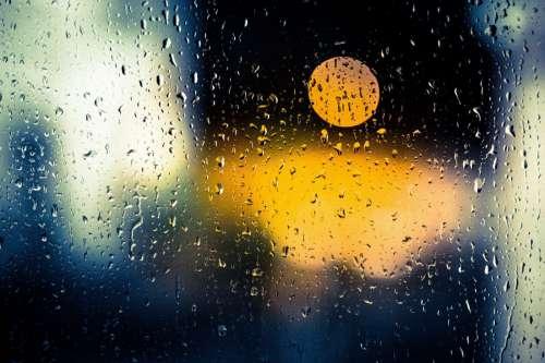 Window Rain Drops
