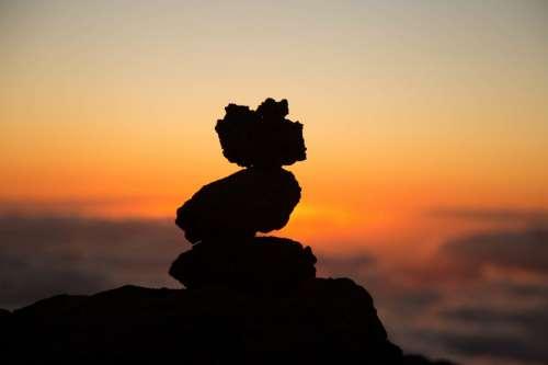 Rock Pile at Sunset