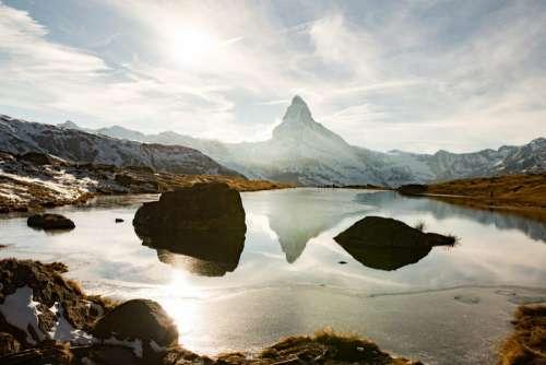 Matterhorn Mountain in Winter