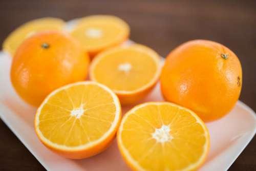 Freshly Cut Oranges