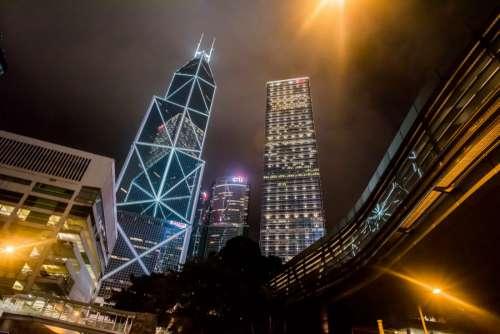 Hong Kong Lights at Night