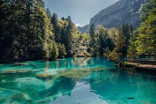 Mountain & Transparent Lake
