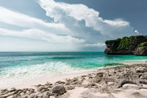 White Sand on Bali Beach