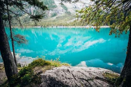 Blue Mountain Lake Reflection