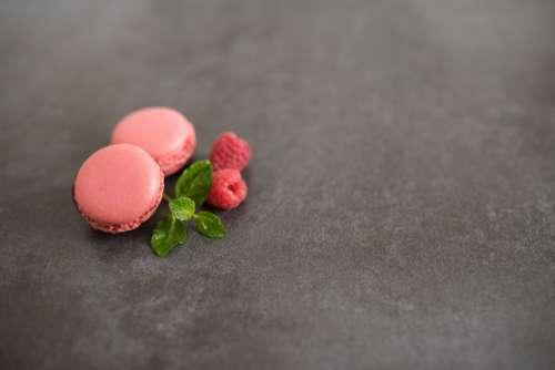 Pink Macaron & Raspberries