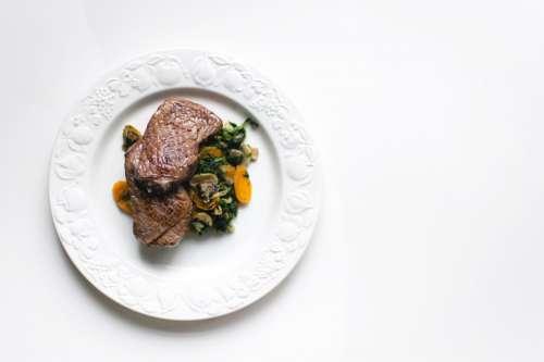 Beef Steak on Plate