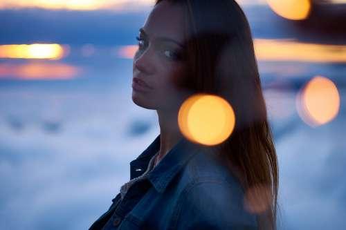 Woman in Sunset Light