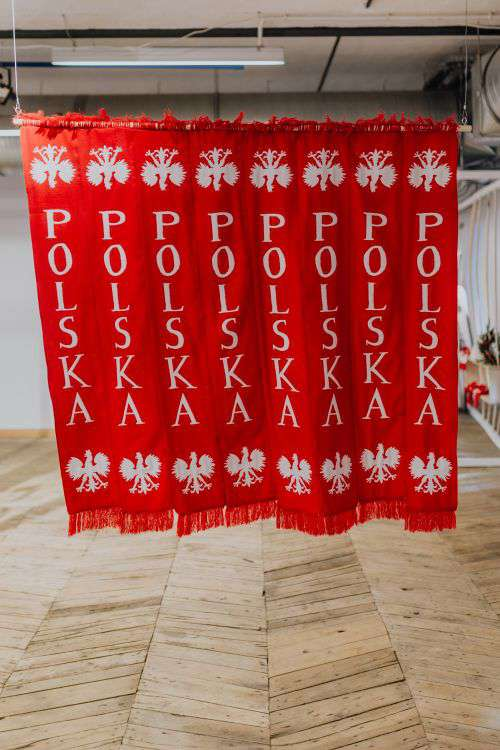 Polish sport fans scarves