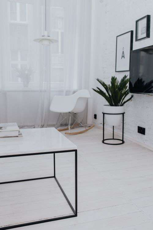 Living Room With Scandi Interior Design, Un'common Marble Table