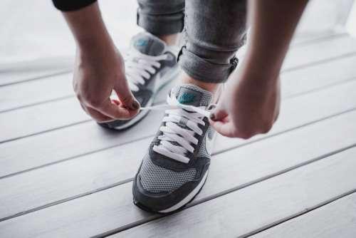 Grey sport shoes