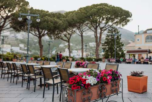 Ravello, a resort town set 365 meters above the Tyrrhenian Sea by Italy's Amalfi Coast