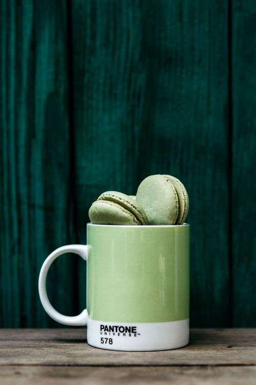 Colorful Macaroons in Pantone Mug
