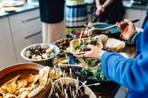 Traditional Middle Eastern lamb kofta dinner
