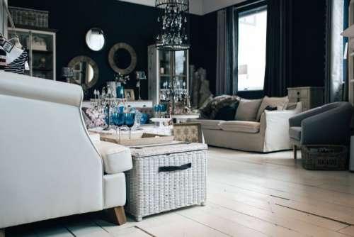 Beautiful vintage living room interior