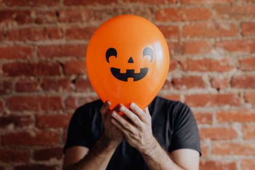 The man with the Halloween balloon
