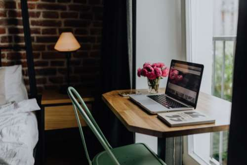 Home office of a modern businesswoman