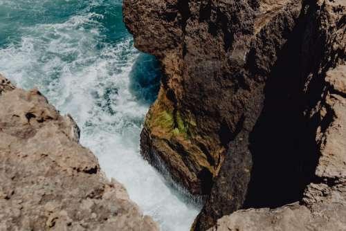 Cliff on the Western Seaboard of Algarve, Praia da Amoreira, Portugal
