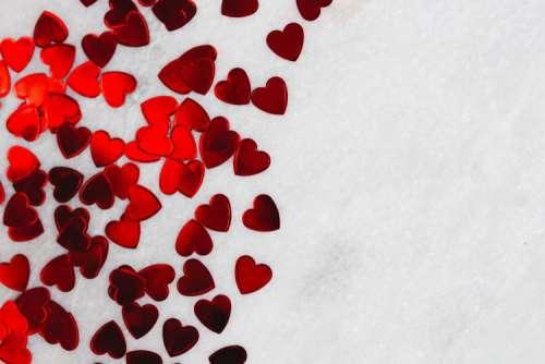 Heart foil confetti