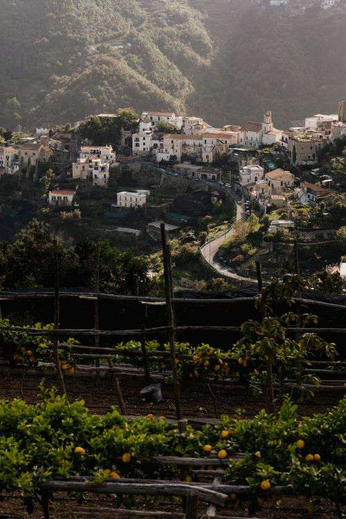 Ravello, a resort town set 365 meters above the Tyrrhenian Sea by Italy's Amalfi Coast