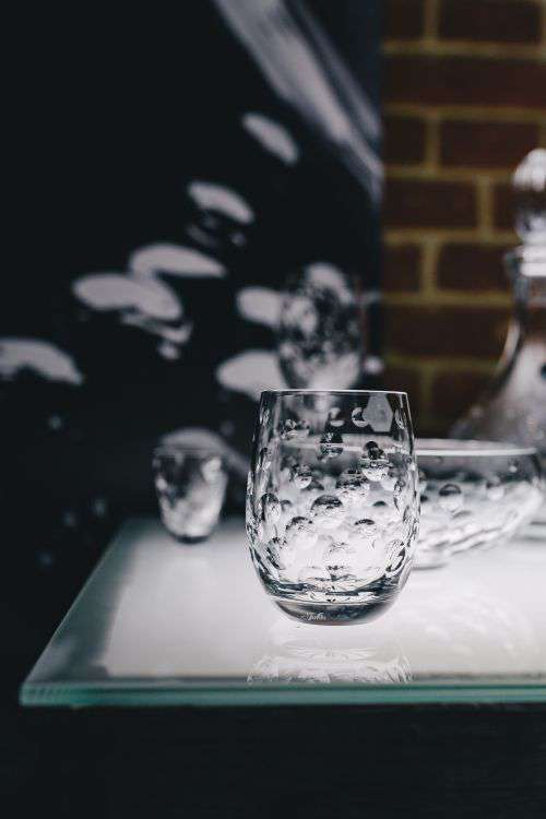 Luxury handmade crystal glass