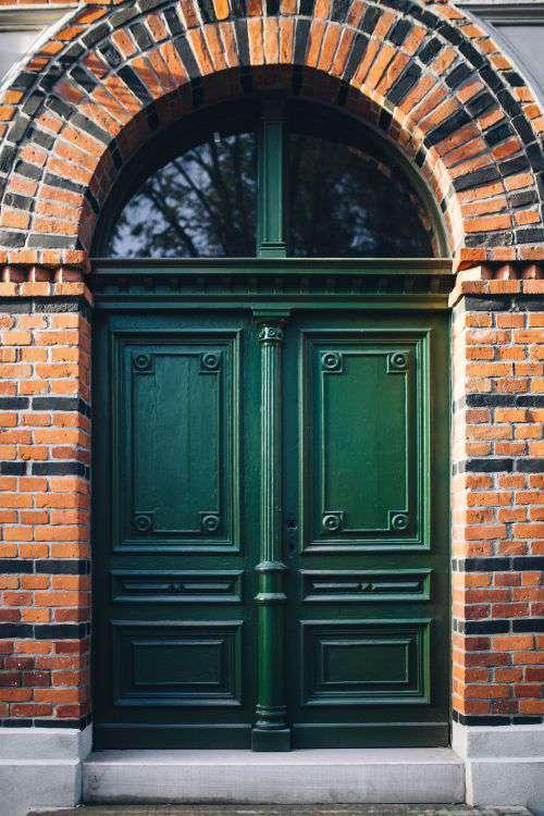 Old bricks buildings in Lodz, Poland