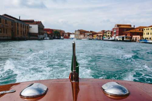 From the boat on my way to the Islands of Murano